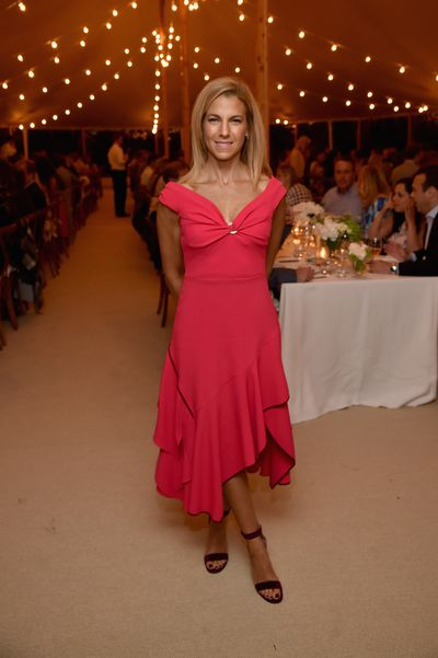 Jessica Seinfeld in Peter Pilotto at the Net-a-porter x GOOD+ dinner at the Seinfeld's estate.