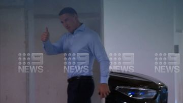 Today Sam Burgess faced a hearing into allegations he threatened Phoebe's father Mitch Hook.