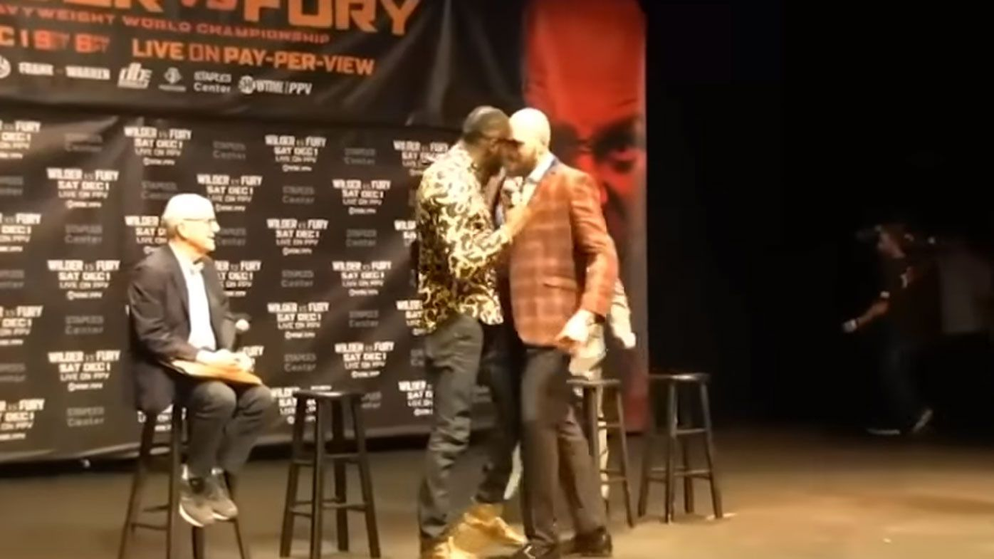 Fury, Wilder almost come to blows in pre-fight press conference