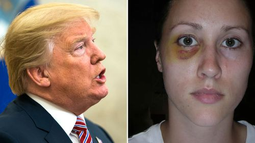 Donald Trump and Rob Porter's ex-wife Colbie Holderness.