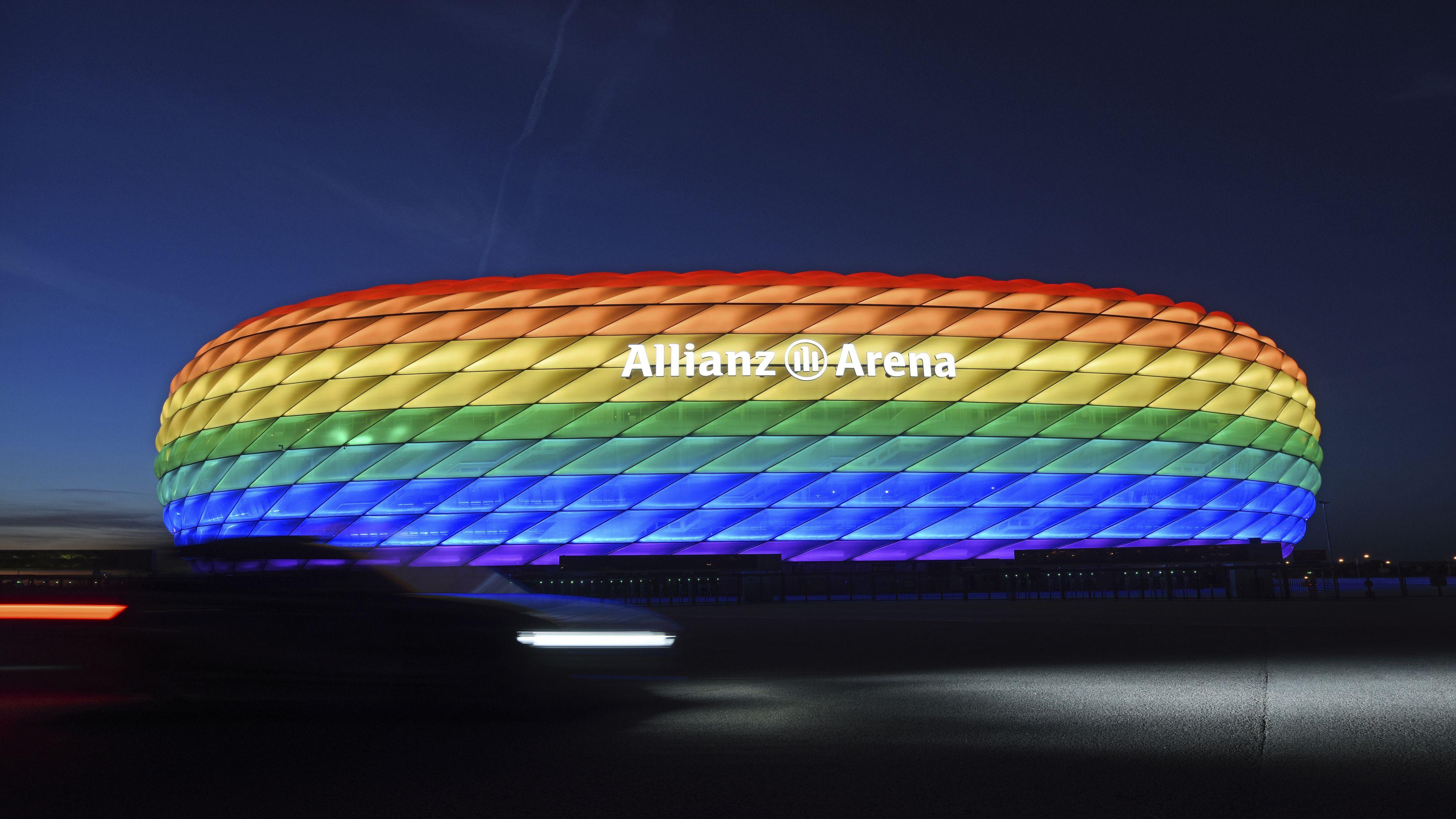 'Shameful': UEFA declines Munich application for rainbow-coloured stadium
