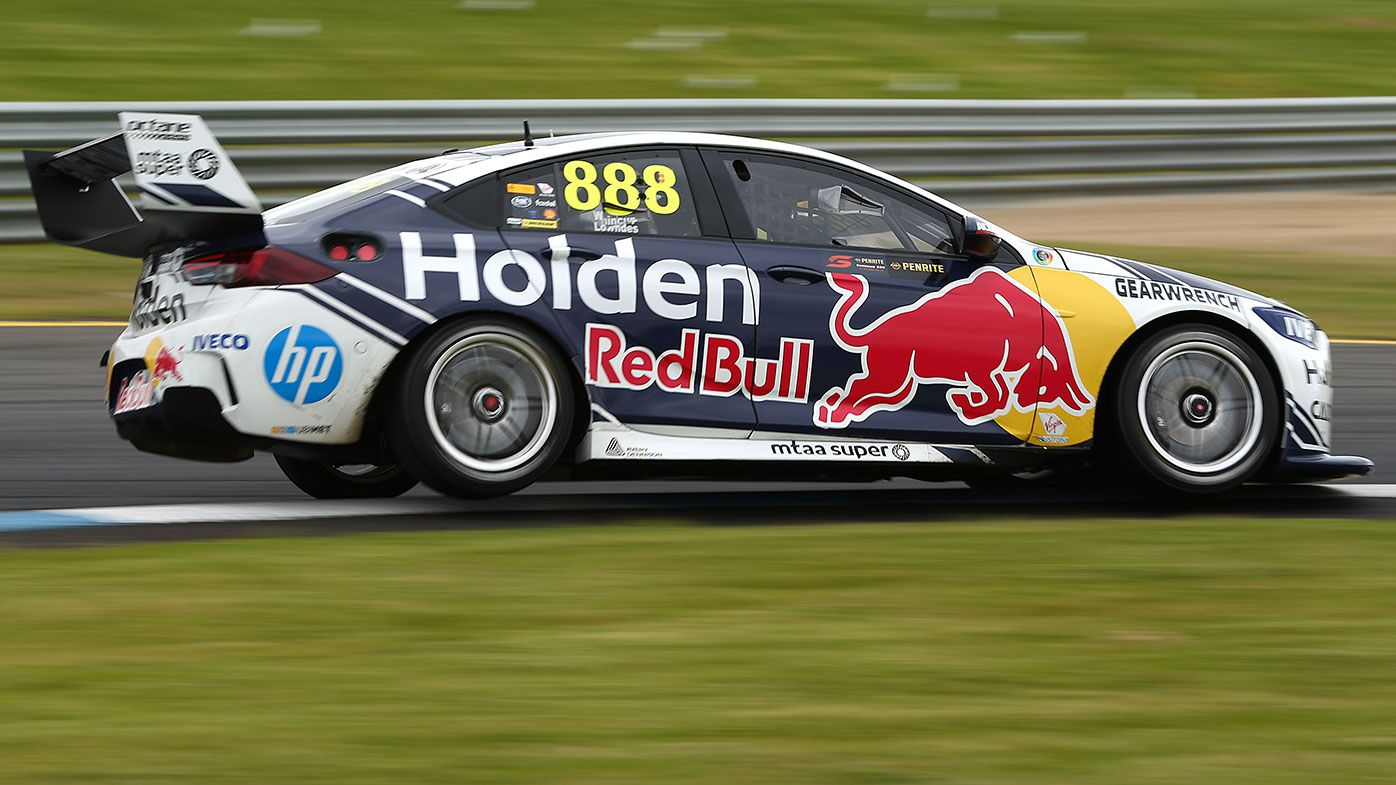 Jamie Whincup and Craig Lowndes on the way to their Sandown 500 win.