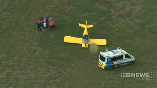 The pilot's partner witnessed the fatal crash. (9NEWS)