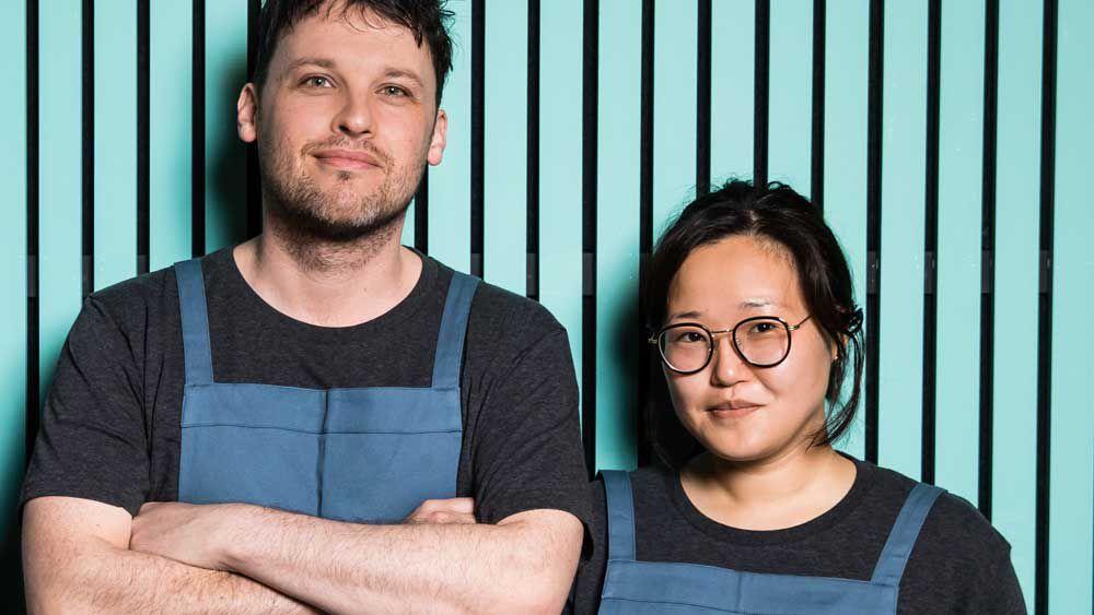 Chefs Ben Sears and Eun Hee An