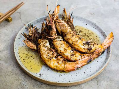 "Recipe: <a href=""http://kitchen.nine.com.au/2016/05/20/10/03/grilled-king-prawns-kombu-butter"" target=""_top"">Grilled king prawns, kombu butter</a>"
