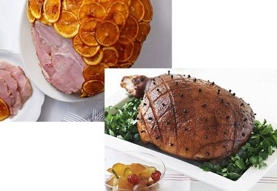 Ham and orange