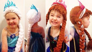 Children with cancer transformed into their favourite Disney princess with help from special wigs