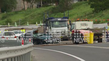 NSW Police on the scene at an accident near Bomaderry