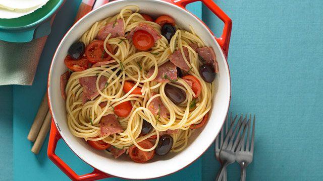 Salami, sage and parmesan pasta for $8.20