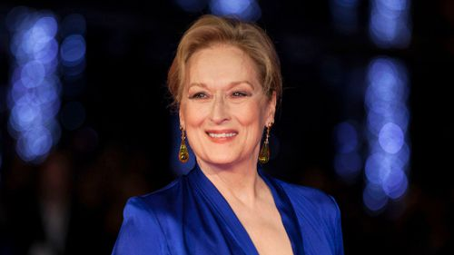 "Meryl Streep at the premiere of the film ""Suffragette"", at the London Film Festival in London. (AAP)"