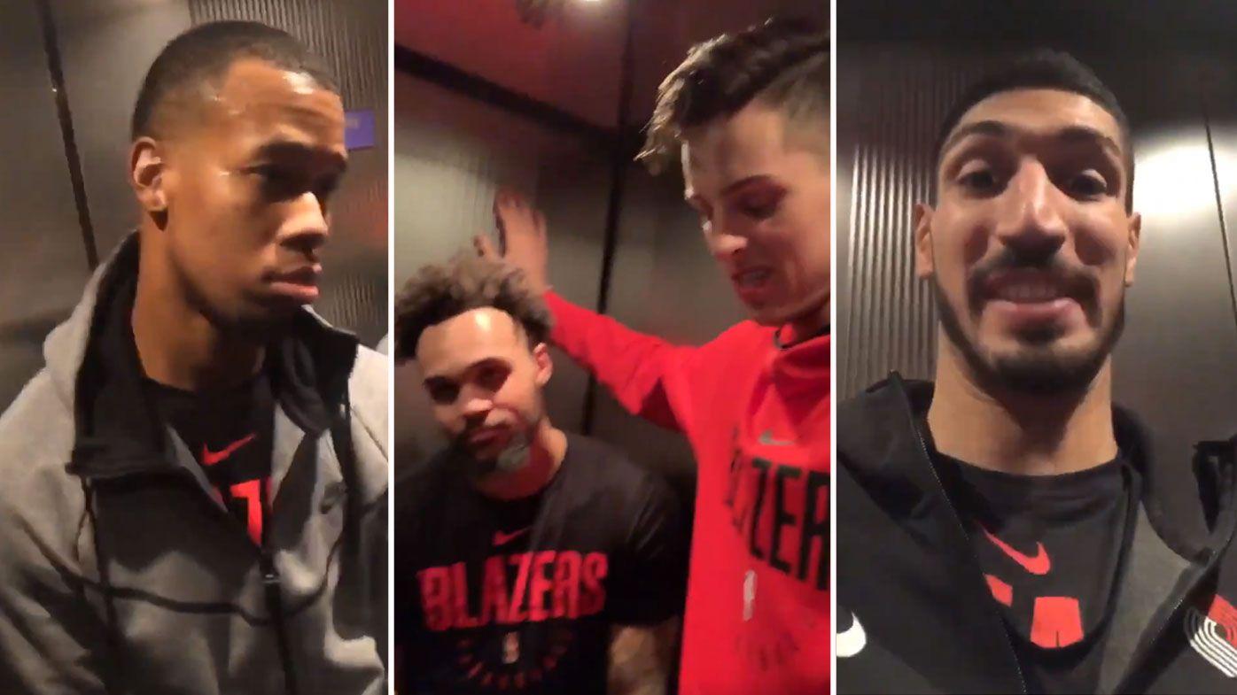 Portland Trail Blazers stuck in elevator