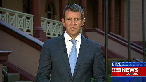 Mr Baird outside Parliament on the eve of the election. (9NEWS)