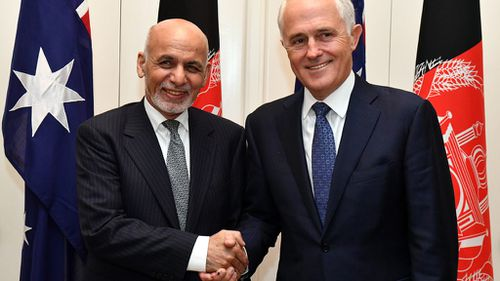 Turnbull pledges support for Afghanistan during presidential visit