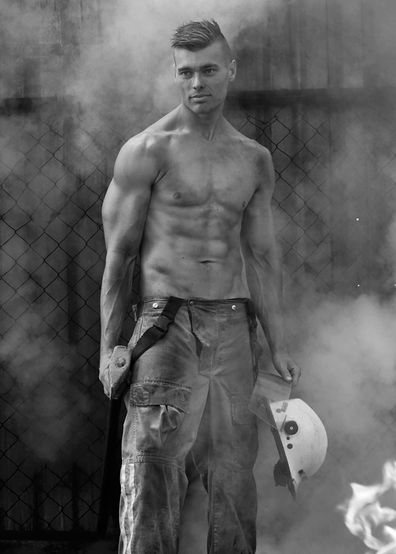 Mark moonlights as a model for a chance at a Firefighter