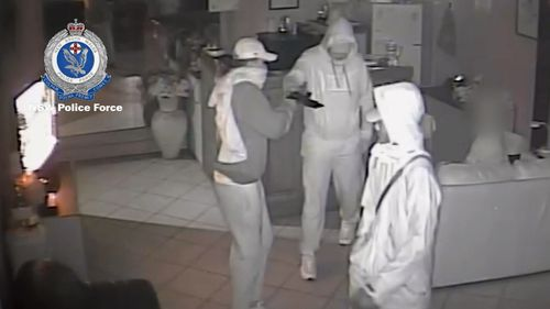 The men escaped with cash and mobile phones. Picture: Supplied.