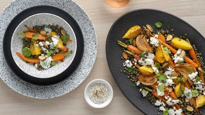 "Recipe: <a href=""http://kitchen.nine.com.au/2018/02/28/11/55/dutch-carrot-and-lentil-salad-recipe"" target=""_top"" draggable=""false"">Carrot and lentil salad</a>"