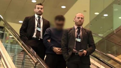 The 28-year-old man has been extradited to Sydney and will appear in court today. (9NEWS)