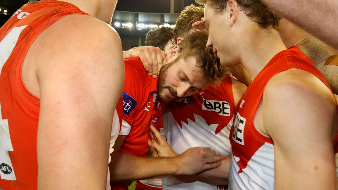 Sydney Swans fear luckless Alex Johnson will require sixth knee reconstruction