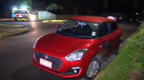 Four men allegedly ganged up on the solo driver. (9NEWS)