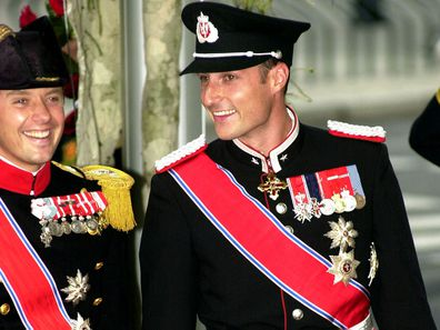 Prince Frederik and Prince Haakon at the 2001 royal wedding in Norway.