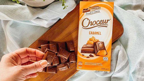 Aldi Choceur Caramel Milk Chocolate Block