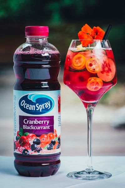 <strong>Ocean Spray Cranberry Blackcurrant = 12.7 grams of sugar per 100ml</strong>