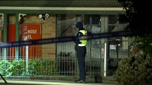A man found injured at the home later died at the scene. (9NEWS)