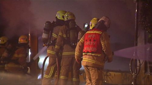50 firefighters were called to Lygon street in Melbourne at 3.30am. (9NEWS)