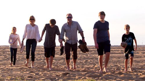 The Whelan family enjoying a day out at the beach. Picture: 60 Minutes