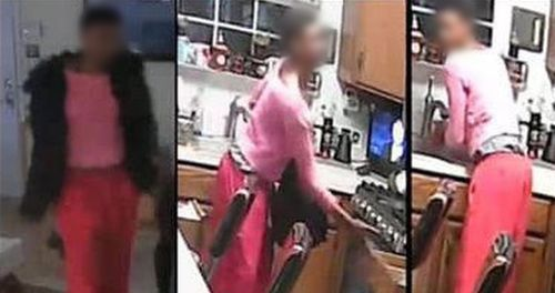 Police released CCTV footage of a suspect they wanted to speak to and she was accompanied by her mother and two lawyers as she handed herself in at a local station.