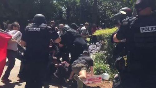 Authorities have confirmed five people have been stabbed at a rally in Sacramento. (ABC10)