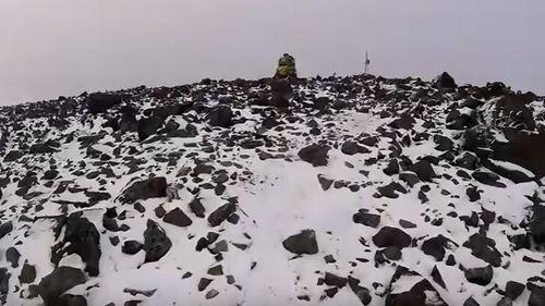 A trekker advances towards the park of Mount Halti. Source: YouTube
