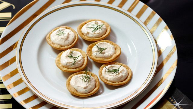 Salmon mousse tarts