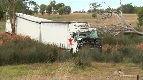 A truck driver has been jailed for three-and-a-half years after a crash that killed two young boys.