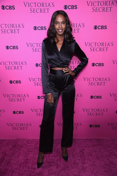Leida Ndaat the Victoria's Secret viewing party in New York.