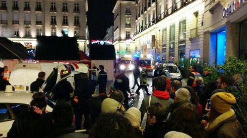 A car has crashed into a Christmas market in western France. (Twitter)