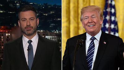 Jimmy Kimmel slams 'coward' Trump for failing to enforce gun control