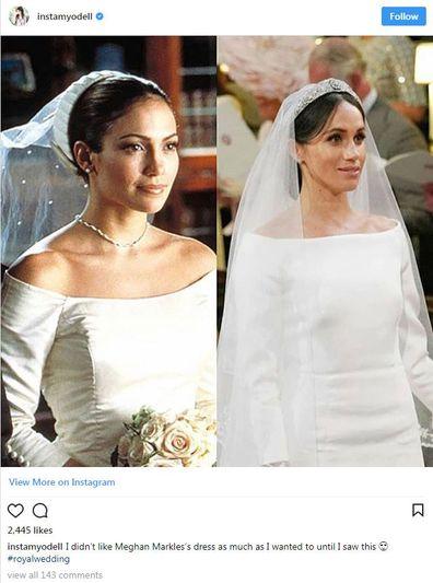 ede5d8312278 Meghan Markle's royal wedding dress 2018 - inspired by Jennifer ...