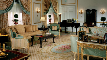 The Windsor Suite at the Waldorf Astoria Hotel in NYC.