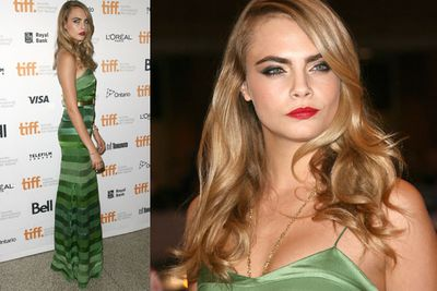 Model Cara Delevingne at <i>The Face Of An Angel</i> Premiere.