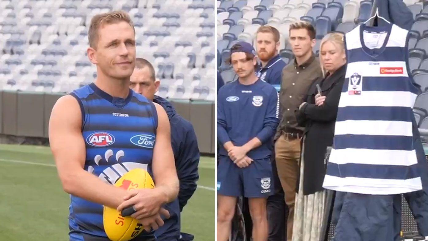 Geelong skipper Joel Selwood leads emotional tribute to club great Vic Fuller