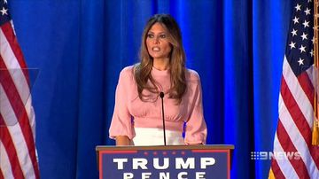 VIDEO: Donald Trump turns to wife Melania in final election push