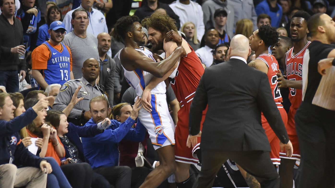 NBA: Scuffle spills into the crowd during Thunder's win over Bulls