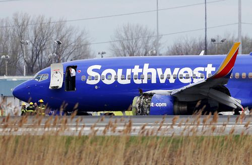 Southwest Flight 1380 was carrying 144 passengers and five crew members when an engine exploded mid-air on April 17 .