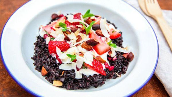 Forbidden Black Rice Pudding