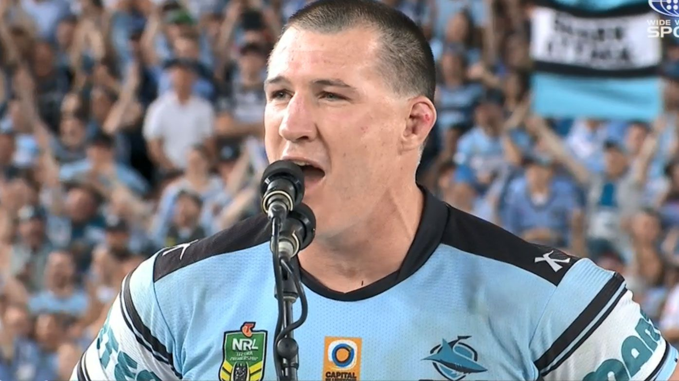 'I was filthy at him': Paul Gallen reveals iconic Sharks premiership speech may have never happened