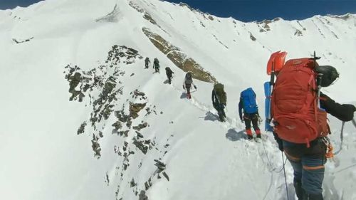 Himalayan climbers last moments caught on camera before deadly avalanche