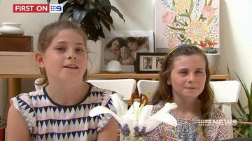 VIDEO: Two young girls praised for brave call that saved dad's life