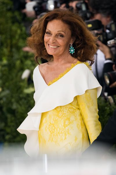 <p>Diane von Furstenberg, 70</p> <p>The designer is blessed with thick hair. Diane blow-dries her hair, roll its and pin its. Before it completely dries she removes the pins and combs it.</p>