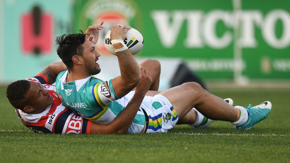 Canberra Raiders stave off plucky Sydney Roosters' in NRL thriller
